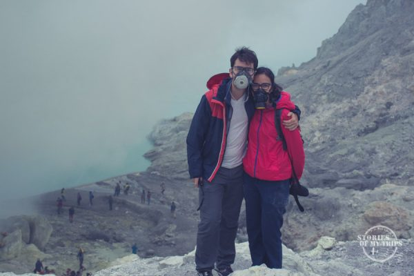 toxic gases, Ijen Volcano, Indonesia