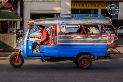 Laos, Transportation, minibus