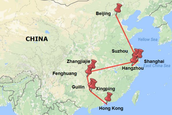 China, our route