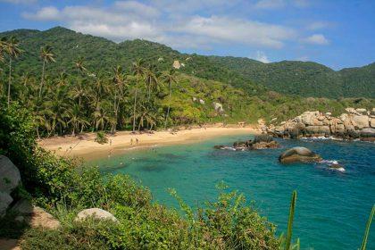 Colombia Tayrona, playa y palmeras